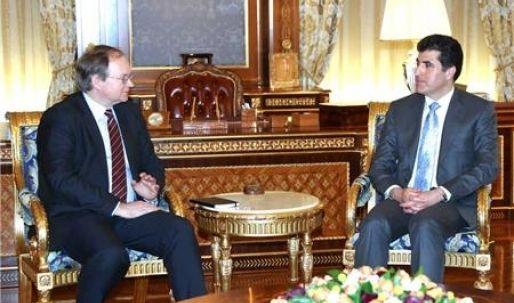 رئيس الوزراء نيجيرفان بارزاني يستقبل وفداً من الإتحاد الأوروبي