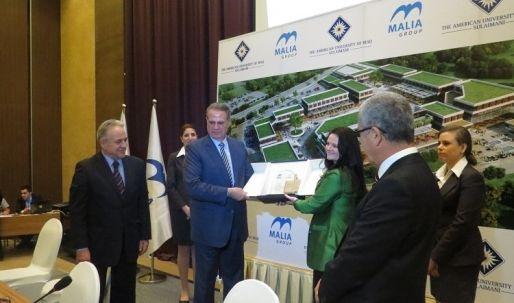 مدينة السليمانية شاهدة على توقيع إتفاقية مشروع بين