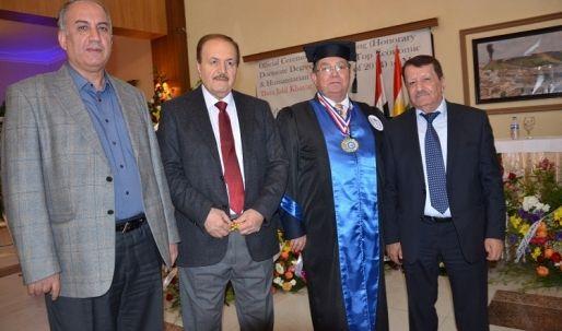 الدكتور دارا جليل الخياط أفضل شخصية اقتصادية لعام 2014