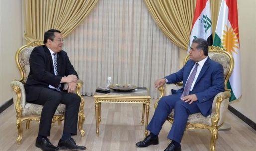 فلاح مصطفى يستقبل القائم بأعمال السفارة الفيليبينية