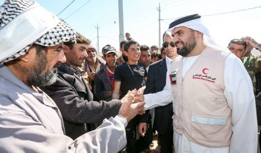 حسين الجسمي يزور رئيس مجلس الوزراء ومخيّمات النازحين العراقيين في أربيل