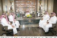 سموّ الأمير الوليد يستقبل رئيس نادي الهلال المرشح الأمير نواف بن سعد
