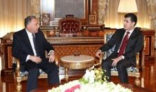 نيجيرفان بارزاني يستقبل القنصل المصري الجديد لدى الإقليم