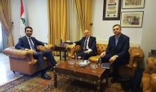القاضي زياد شبيب التقى السفير الأوكراني ووفداً من اليازا