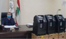 أجهزة تنفّس إصطناعية تسلّمتها بلدية كفرحزير